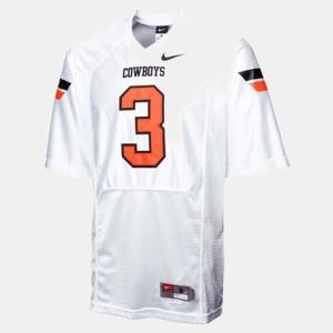 White Brandon Weeden College Jersey #3 For Men Football Cowboys