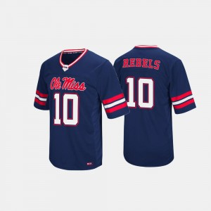College Jersey Navy Rebels Mens #10 Hail Mary II