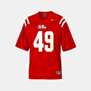Football Red Patrick Willis College Jersey Ole Miss Rebels Youth(Kids) #49
