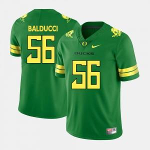 Men #56 Oregon Ducks Alex Balducci College Jersey Football Green
