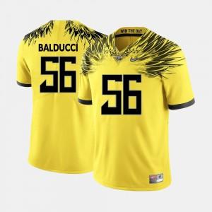 Football Men's #56 Alex Balducci College Jersey Yellow UO