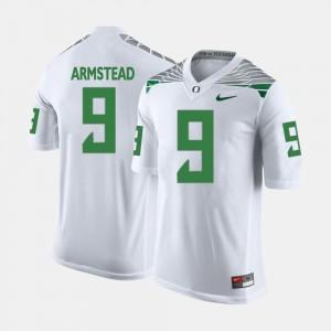 #9 White Football Oregon Men's Arik Armstead College Jersey