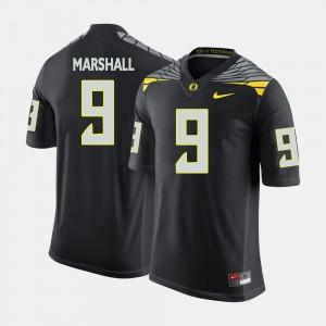 #9 Football Oregon Duck Black Byron Marshall College Jersey Men's