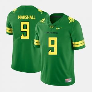 Football Green #9 Byron Marshall College Jersey Mens Ducks