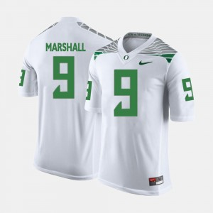 For Men's White Byron Marshall College Jersey Oregon #9 Football