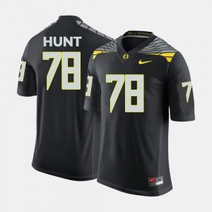 Cameron Hunt College Jersey Black #78 Oregon Mens Football