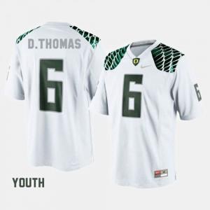 Oregon De'Anthony Thomas College Jersey #6 White Youth Football