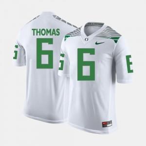 Football De'Anthony Thomas College Jersey White Ducks For Men's #6