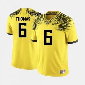 Mens UO #6 Football Yellow De'Anthony Thomas College Jersey