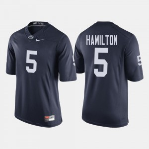 #5 DaeSean Hamilton College Jersey Navy Football For Men's PSU