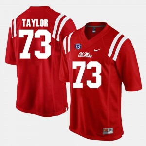 #73 Red Alumni Football Game Rod Taylor College Jersey Ole Miss Men's