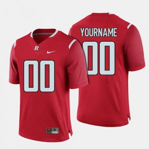 Rutgers University Men College Custom Jerseys Football #00 Red