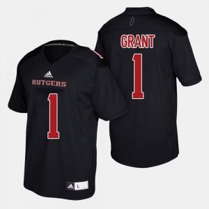 Football Black Mens Janarion Grant College Jersey #1 Scarlet Knights