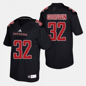 Justin Goodwin College Jersey Black Rutgers Scarlet Knights Men #32 Football