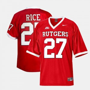 Red For Men Ray Rice College Jersey Football #27 Rutgers University