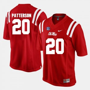 #20 Men Ole Miss Shea Patterson College Jersey Alumni Football Game Red