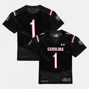 #1 For Kids Football College Jersey Black University of South Carolina