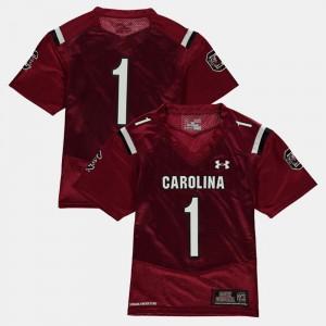 College Jersey SC Youth(Kids) Garnet #1 Football