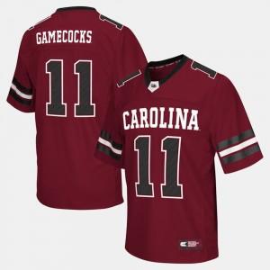 Garnet Football #11 For Men's Gamecocks College Jersey