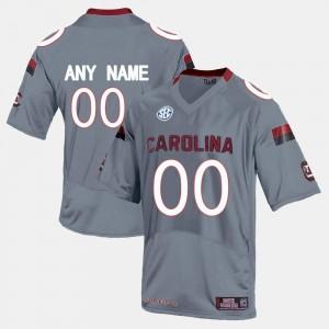 #00 Grey SC College Custom Jersey Mens Limited Football