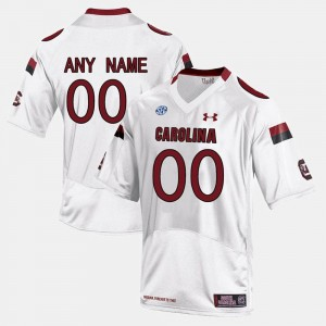 #00 White South Carolina Limited Football Mens College Customized Jersey
