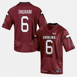 Men #6 USC Gamecocks Melvin Ingram College Jersey Football Cardinal