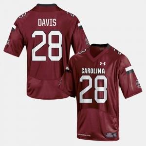 Men #28 Football Mike Davis College Jersey Cardinal University of South Carolina