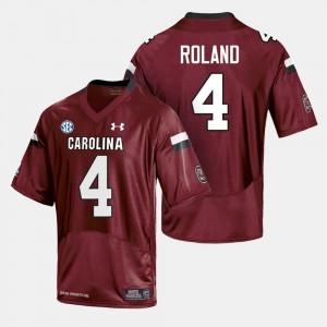 For Men USC Gamecocks Football Shaq Roland College Jersey Cardinal #4