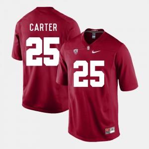 Football For Men Cardinal #25 Alex Carter College Jersey Cardinal