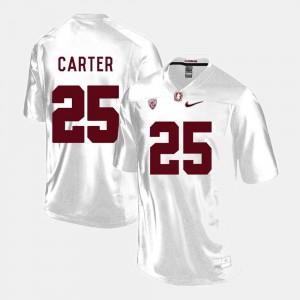 Men #25 Alex Carter College Jersey White Stanford Football