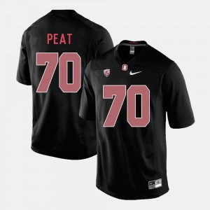 For Men Stanford Football Black #70 Andrus Peat College Jersey