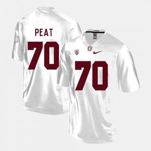 Stanford Cardinal For Men's Football #70 Andrus Peat College Jersey White