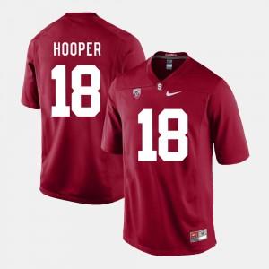 Football #18 For Men Austin Hooper College Jersey Cardinal Stanford University