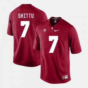 Football Aziz Shittu College Jersey Cardinal Stanford Cardinal Men #7