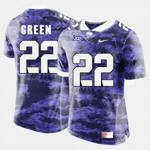 TCU Horned Frogs Football Purple Mens #22 Aaron Green College Jersey