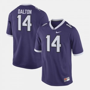 TCU University Andy Dalton College Jersey Purple For Men #14 Alumni Football Game