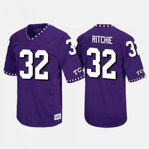 Throwback Purple Brandon Ritchie College Jersey Texas Christian University Mens #32
