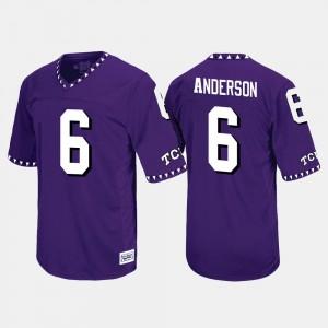 #6 Purple Throwback Darius Anderson College Jersey Texas Christian University For Men