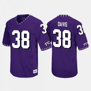 #38 Throwback Men's Daythan Davis College Jersey Purple TCU University