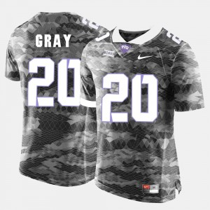 Grey Deante Gray College Jersey Football For Men's #20 TCU Horned Frogs