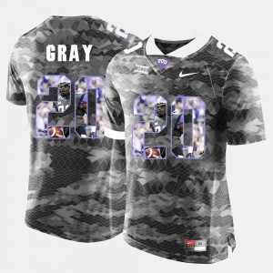Texas Christian Deante Gray College Jersey #20 For Men Grey High-School Pride Pictorial Limited