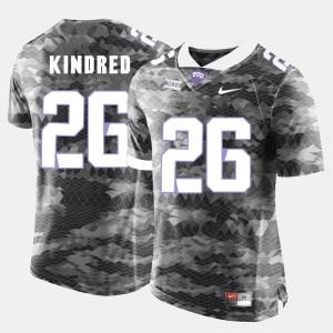 #26 TCU University Football For Men Derrick Kindred College Jersey Grey