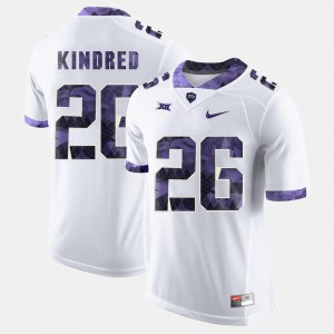 White Football TCU Horned Frogs #26 Derrick Kindred College Jersey For Men's