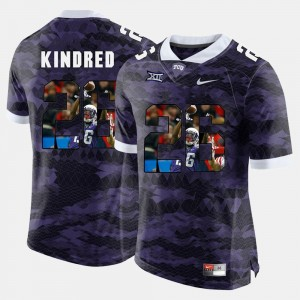 Derrick Kindred College Jersey Men's Purple Horned Frogs #26 High-School Pride Pictorial Limited