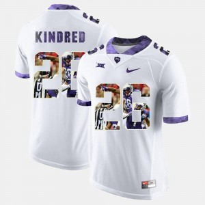 Texas Christian University High-School Pride Pictorial Limited #26 White Derrick Kindred College Jersey For Men