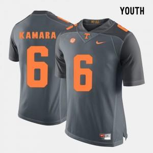 Grey Youth #6 Alvin Kamara College Jersey Football UT VOLS