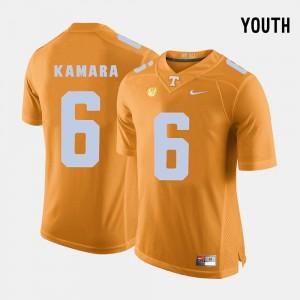 Orange VOL For Kids #6 Alvin Kamara College Jersey Football