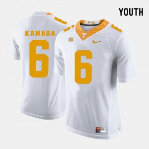 White Youth #6 Alvin Kamara College Jersey Football Vols
