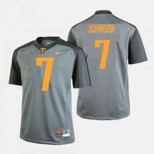 #7 Brandon Johnson College Jersey Gray UT VOLS Mens Football