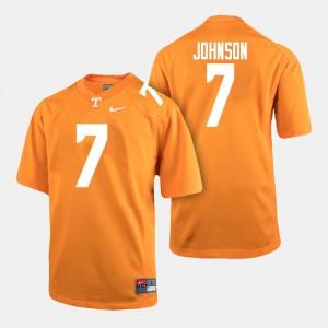 Men UT VOLS Football Brandon Johnson College Jersey Orange #7